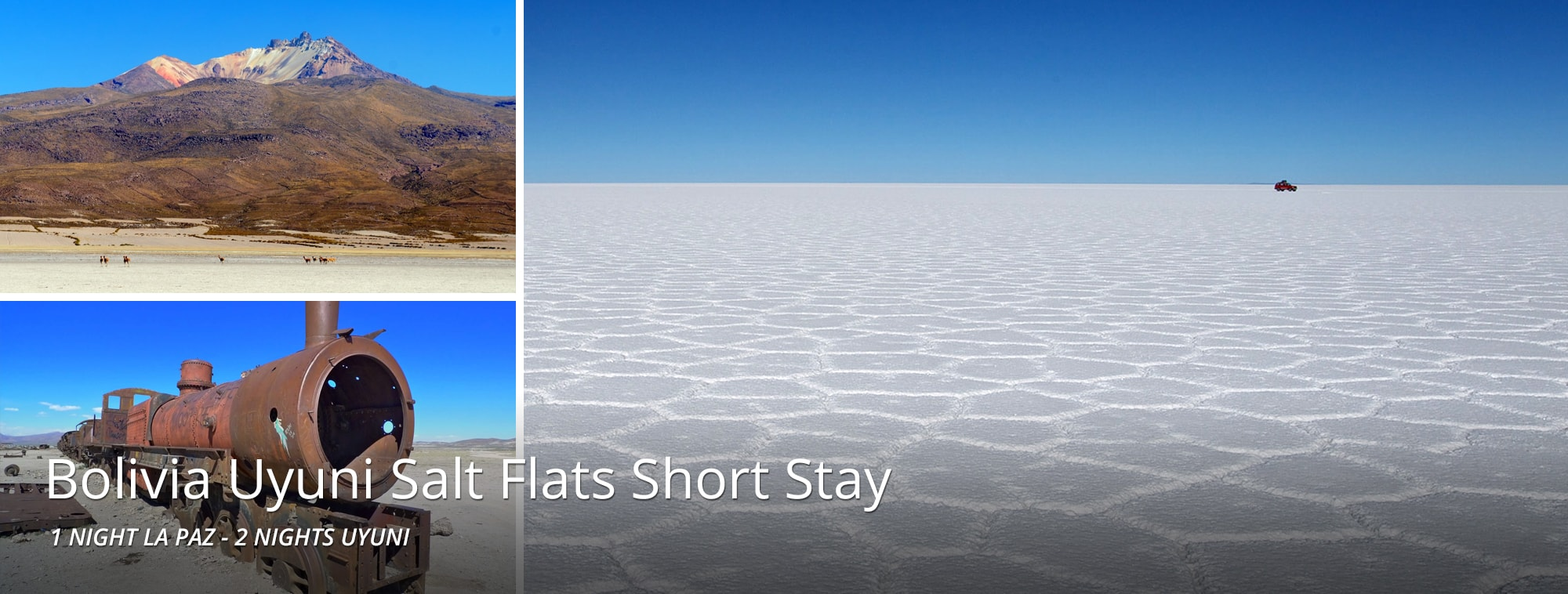 Bolivia Uyuni Salt Flats Short Stay Top Banner