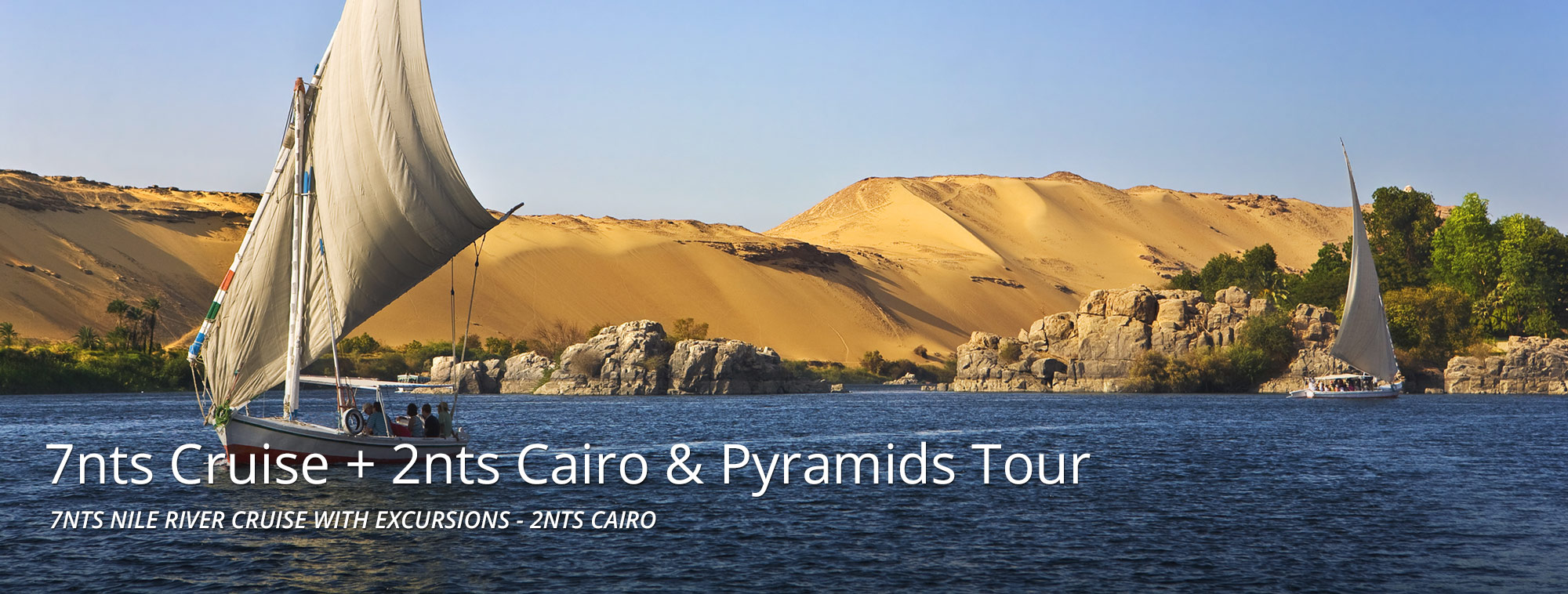 7 Nights Nile Cruise with Excursion Banner