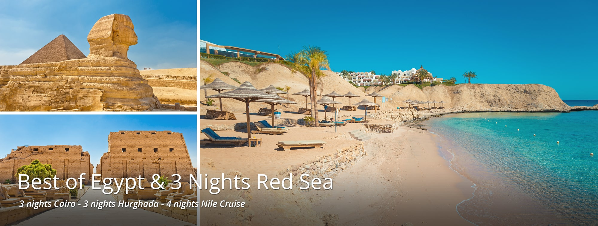 Best of Egypt & 3 Nights Red Sea Tour Banner