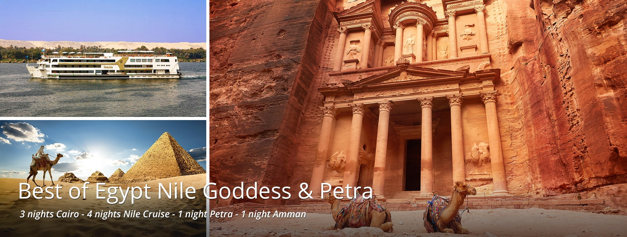 Best of Egypt Nile Goddess and Petra Tour