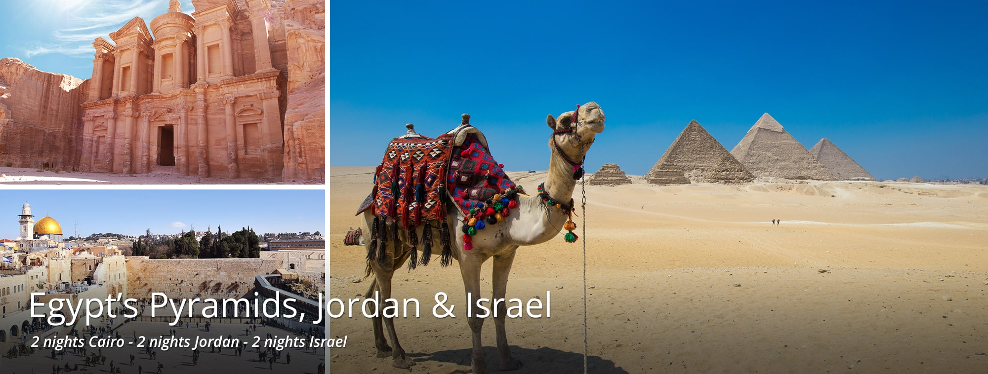 Highlights of Egypt, Jordan & Israel Tour Banner