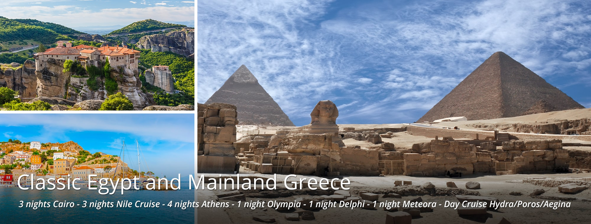 Classic Egypt and Mainland Greece Tour