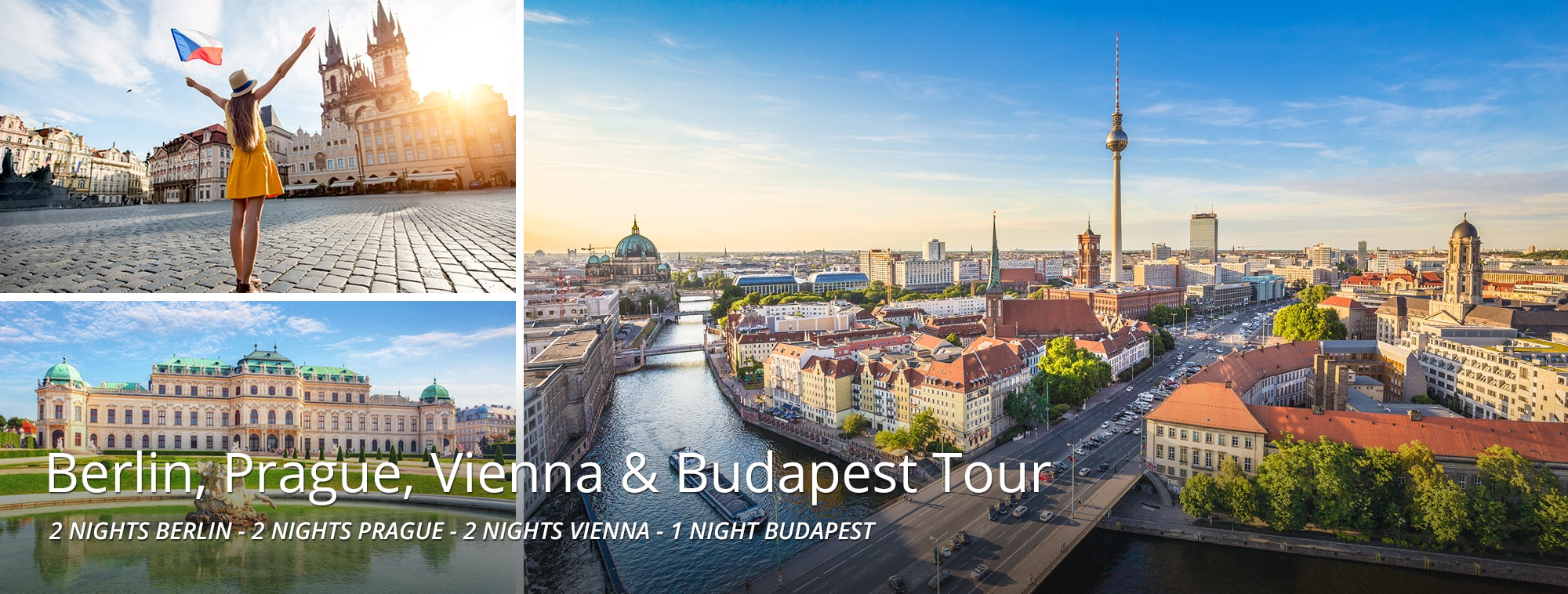 Berlin, Prague, Vienna & Budapest Tour Top Banner