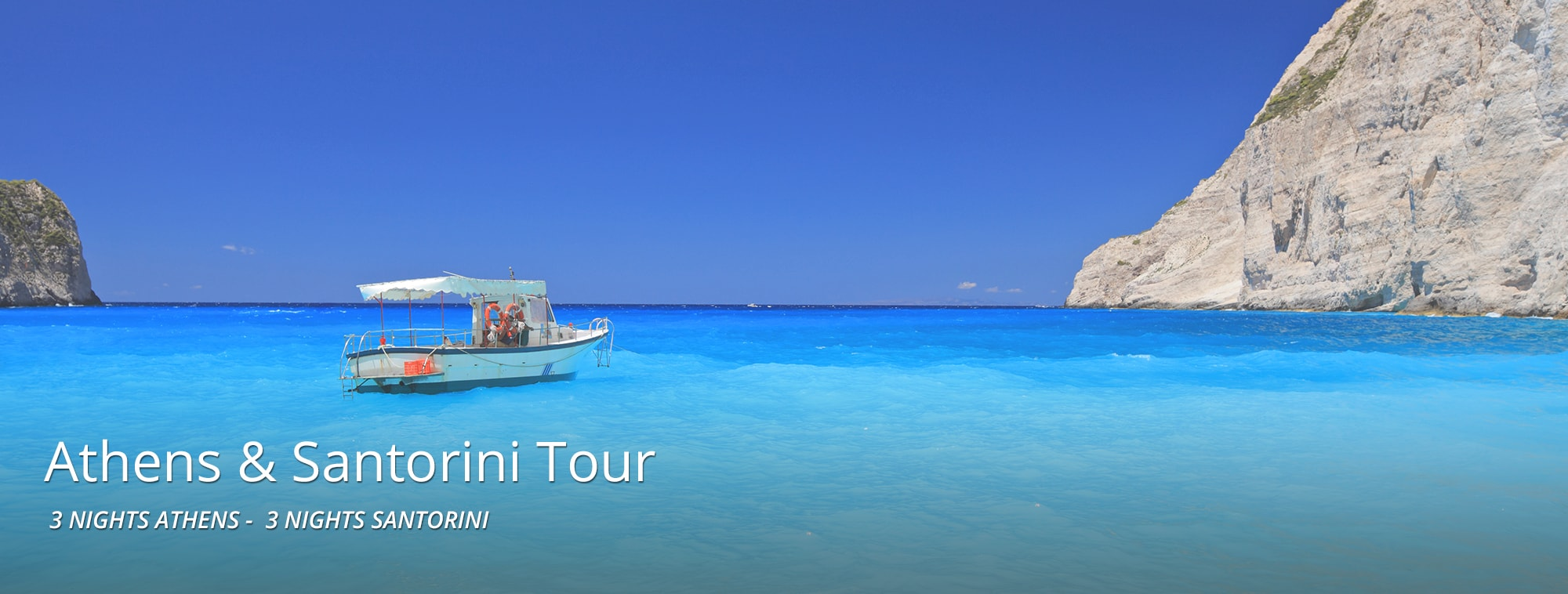 Athens - Santorini Package Banner