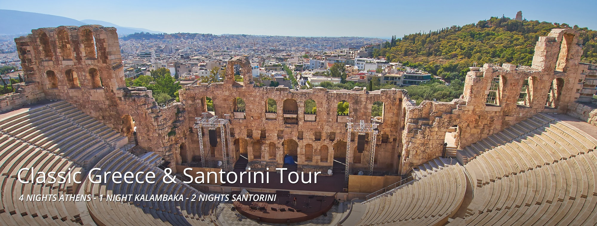 Classic Greece and Santorini Tour Banner