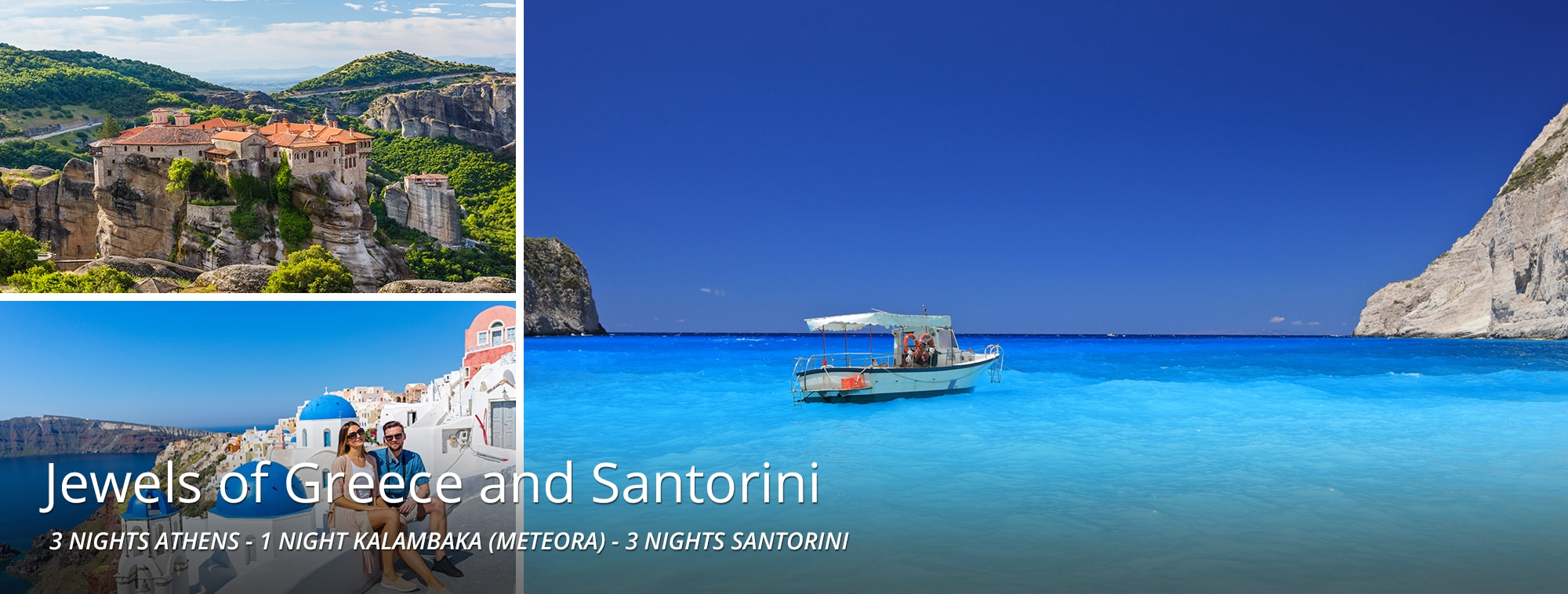 Jewels of Greece and Santorini Tour Banner