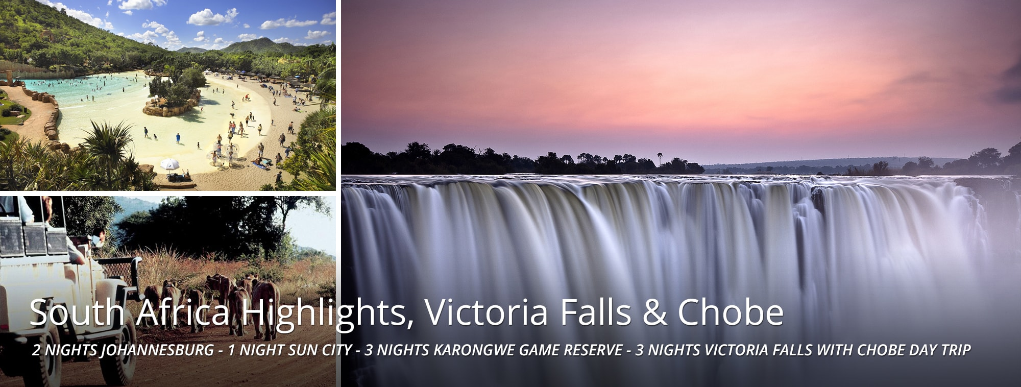 South Africa Highlights, Victoria Falls Chobe Tour Banner