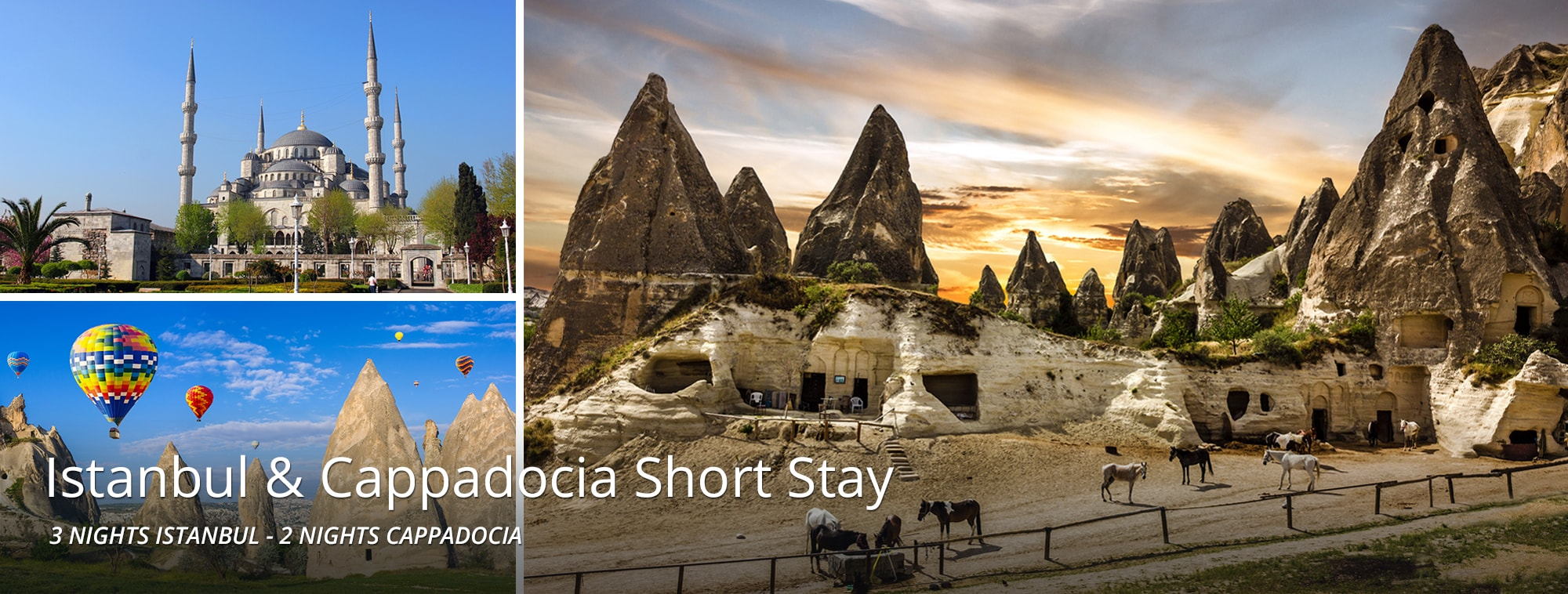 Istanbul & Cappadocia Short Stay Top Banner