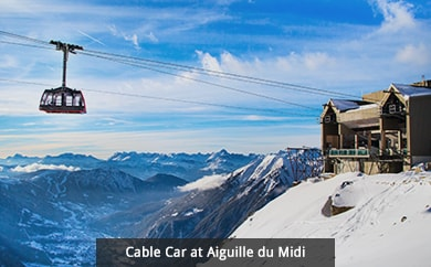 Cable Car at Aiguille du Midi