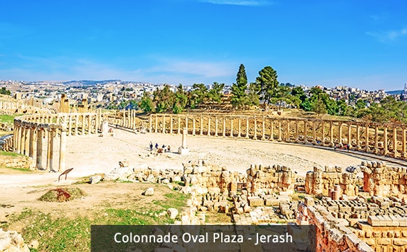 Colonnade Oval Plaza - Jerash