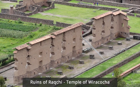 Ruins of Raqchi - Temple of Wiracocha