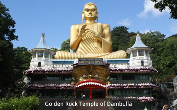 Golden Rock Temple of Dambulla