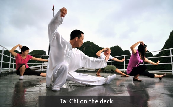 Tai Chi on the deck