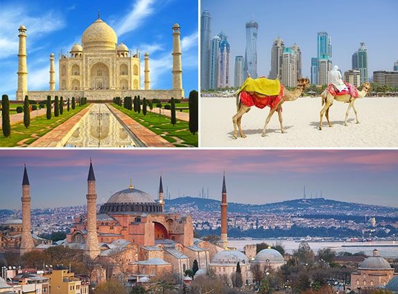 Turkey - India - Dubai