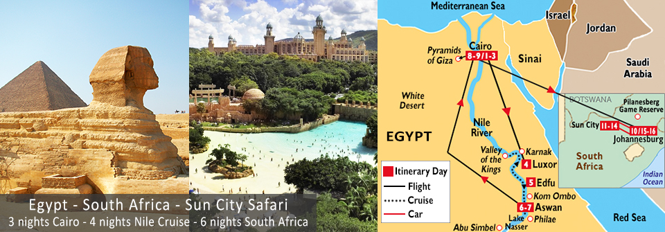 Egypt South Africa Tours Egypt South Africa Vacation