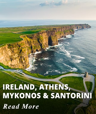 Ireland, Athens, Mykonos, and Santorini Tour