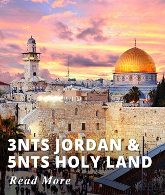 3 nights Jordan & 5 nights Holy Land Tour