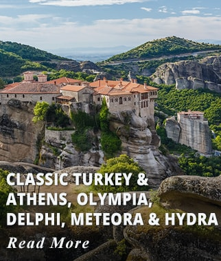 Classic Turkey & Athens, Olympia, Delphi, Meteora, and Hydra Tour