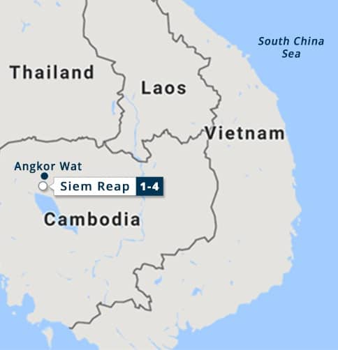 Siem Reap - Angkor Wat Short Stay Map