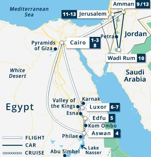 Best of Egypt Sonesta Moon Goddess + Jordan & Israel Tour ... Cairo Pyramids Map on pyramid mexico city map, pyramid egypt map, pyramid giza map,