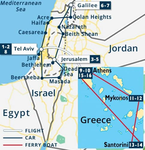 Classic Israel - Greece Tour | Tel Aviv - Jerusalem - Galilee Tours ...