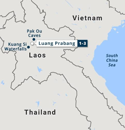 Luang Prabang - Laos Short Stay Map
