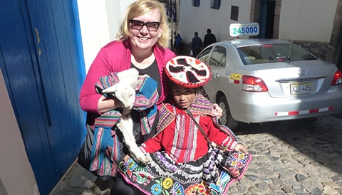 A picture of one of our client in Peru